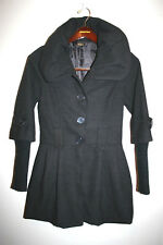 Womens LOLA Made in ITALY Brown Peacoat Small Medium S/M