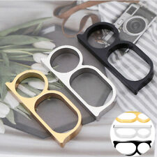 Men Blogger Two Finger Style Chunky Women Vintage Punk Double Knuckle Retro Ring