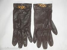 Authentic HERMES Paris Lamb Leather Gloves Size 7 / Small