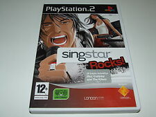 SINGSTAR : ROCKS  for PS2  (PAL)  VERY GOOD CONDITION COMPLETE