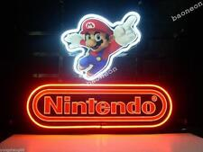 New Nintendo Super Mario Bros HANDCRAFTED NEON SIGN BAR GARAGE LIGHT MAN CAVE