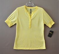 Cabela's Womens Knit  Top  Size M  Canary Yellow  Short Sleeve  NWT