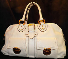 Marc Jacobs Made in Italy Venetia Satchel Ivory Leather Shoulder Bag Handbag