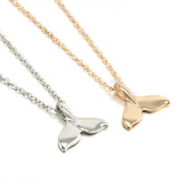 Whale Tail Fish Nautical Charm Chain Mermaid Tail Gold Silver Necklace Jewelry