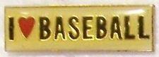 Hat Lapel Pin sports I Love Baseball NEW