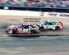 JEFF BURTON #99 vs JEFF GORDON #24 AT BRISTOL 1997 NASCAR WINSTON CUP 8X10 PHOTO