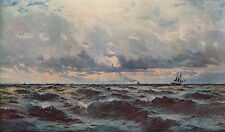 HENRY MOORE 1885 Oil Painting THE NEWHAVEN PACKET Vintage Artwork 1930 BookPrint