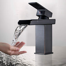 BWE Waterfall Oil Rubbed Bronze Bathroom Basin Faucet Sink Mixer Tap