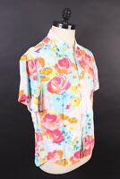 VTG JAMS WORLD Rayon 30th Anniversary Hawaiian Shirt USA Mens Size Large