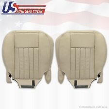2004 Lincoln Navigator Driver & Passenger Bottom Leather Seat Covers Light TAN