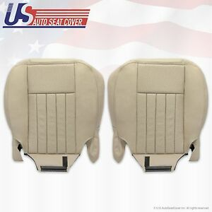 2003 Lincoln Navigator Driver & Passenger Bottom Leather Seat Covers Light TAN