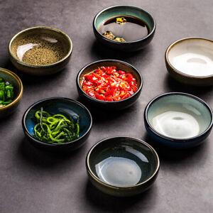 Seasoning Sauce Dish Ceramic Glaze Flavored Soy Vinegar Snack Dip Plate Kitchen