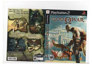 God of War PS2 ARTWORK ONLY Excellent Authentic Black Label