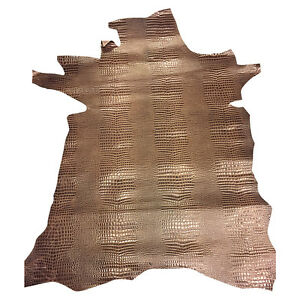 SALE Leather Hides Brown Snakeskin Genuine Lambskin Upholstery DIY Material 961