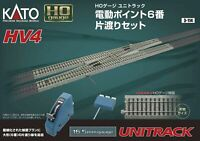 Kato HO Scale UniTrack ~ HV4 Interchange Crossover Track Set #6 Turnouts ~ 3-114