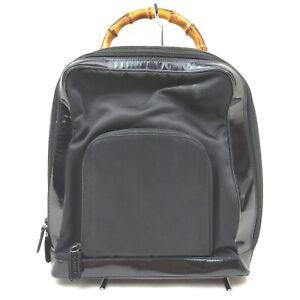 Gucci Back Pack Bamboo Black Enamel 1902000