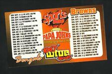 Cincinnati Begnals & Cleveland Browns--2004 Magnet Schedule--WTUE/Papa Johns