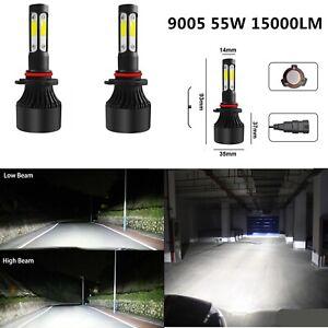 2X 9005 HB3 LED Headlight Kit 55W 15000LM Bulbs 6000K White High Low Beam Lamp