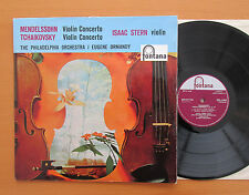 CFL 1045 Mendelssohn Tchaikovsky Violin Concerto Isaac Stern 1959 Fontana Mono