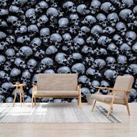 3D Dark Gothic Skulls Self-adhesive Wallpaper Bedroom Living Room Murals Decals
