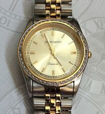 PIERRE CARDIN DIAMOND COLLECTION TWO-TONE MEN'S WATCH GOLD ROUND DIAL BRAND NEW!