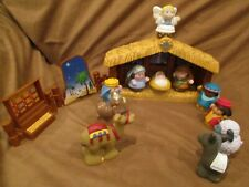 FISHER PRICE 77620 Little People Christmas NATIVITY SET 14 pieces