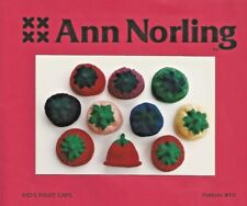 Kid's Knit Fruit Cap 6mths 1-2 yrs Knitting Instruction Pattern Ann Norling #10