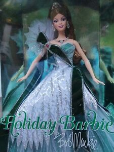 2005 Holiday Green Gown Barbie Doll by Bob Mackie Barbie Collector - New - NRFB