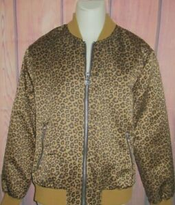 MENS FOREVER 21 CHEETAH LEOPARD ANIMAL PRINT JACKET SIZE L