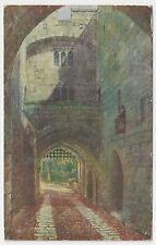 Old J Salmon Postcard, 835, Gate House & Portcullis. Warwick Castle, 1935