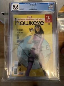 Hawkeye #1 (2017) CGC 9.6 White! 1st Kate Bishop series! 1st Solo Story