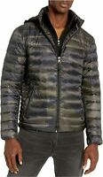 Calvin Klein Men's Lightweight Packable Down Jacket, Olive Camo, Size Small jC64
