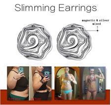 Rose Design Slimming Earrings Healthy Stimulating Acupoints Stud Magnetic