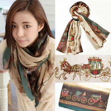 NEW Women Ladies Long Soft Scarf Wrap Large Carriage Winter Shawl Scarves Stole