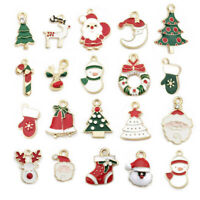 10~20x Enamel Alloy Mixed Christmas Charms Pendant Fit Jewelry DIY Craft Making