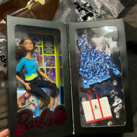 A BATHING APE BAPE x BARBIE DOLL Blue Camouflage Japan Exclusive F/S Limited New