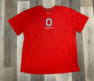 Nike Ohio State Buckeyes Baseball TEAM ISSUED Short Sleeve Shirt Men's Size 3XL