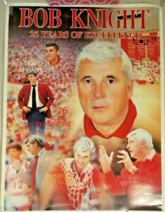 Bob Knight Poster 25 Years of Excellence 1995 Mid-America Publishing