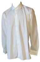 Camicia Collo Francese Elegante Classica Uomo Bianca Cotone MAN SINCE 1974 45 18