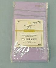 COSY HOUSE COLLECTION LUXURY PILLOWCASES, STANDARD SIZE, LAVENDER, NEW