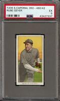 Rare 1909-11 T206 Rube Geyer Sweet Caporal 350-460 St. Louis PSA 5 EX