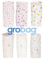 Grobag Baby Gro Swaddle Wrap Blanket 100% Cotton Newborn Boy & Girl Designs