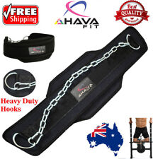 7d04c9f427326 WEIGHT LIFTING BELT GYM BACK PULL UP CHAIN DIPPING DIP BODY BUILDING WORKOUT