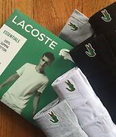 1 Lacoste Essentials Mens Crew Neck T Shirt Tee XS S M L XL 2XL Classic Fit New