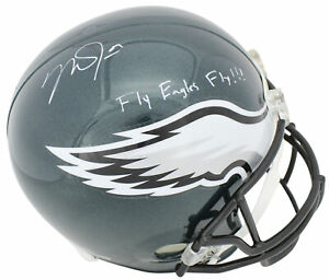 """Mike Trout """"Fly Eagles Fly"""" Signed Eagles Full Size Rep Helmet MLB #JC126390"""