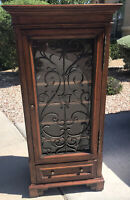 Ethan Allen Wine Cabinet Tuscany Display Rustic Distressed 32-9505 Finish 334