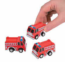 12 Pullback Fire Trucks Firefighter Fireman Firetruck Hero birthday party favors