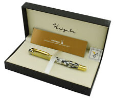 Kaigelu 336 Fountain Pen , White Celluloid and Golden Cap Signature Pen with Box