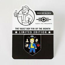 Fallout Vault Boy Limited Metal Pin Of The Month Perception Perk - 3 4 5