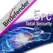 Bitdefender Total Security 2018 5 dispositivos 5 PC 1 año PC EU / ES